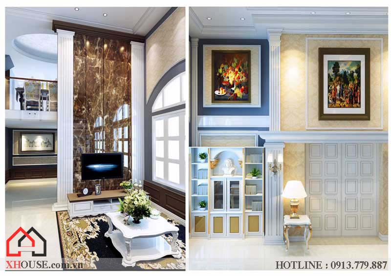 Thiết kế nội thất tân cổ điển đẹp 13