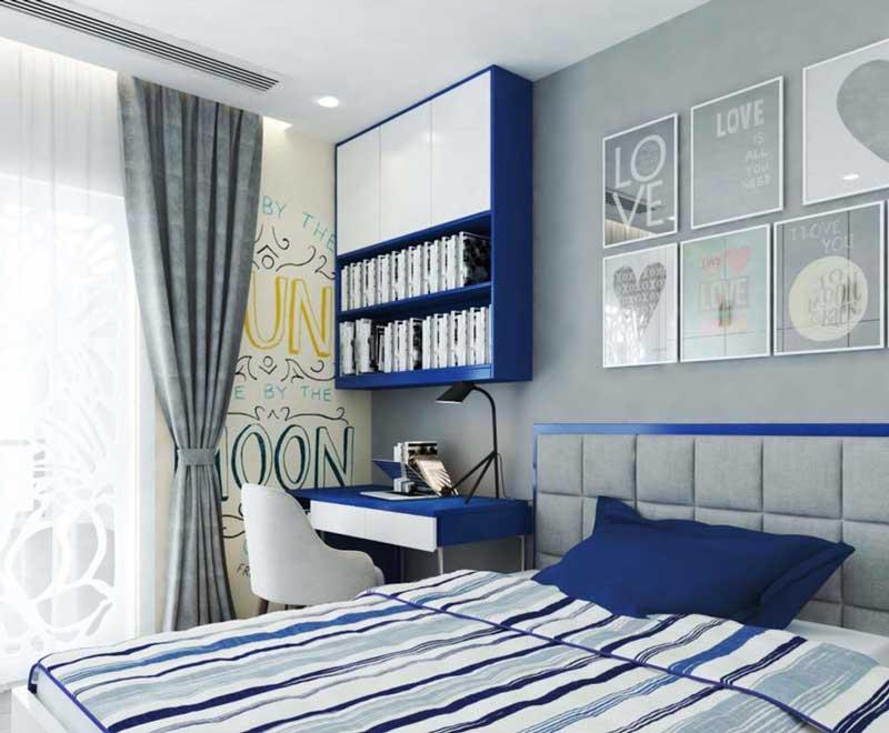 Thiết kế căn hộ 100m2 3 phòng ngủ 12