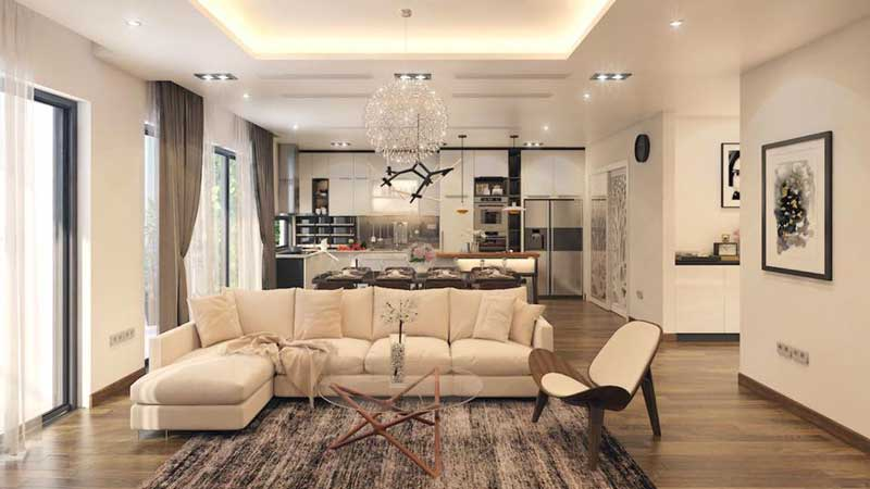 Thiết kế căn hộ 100m2 3 phòng ngủ 18
