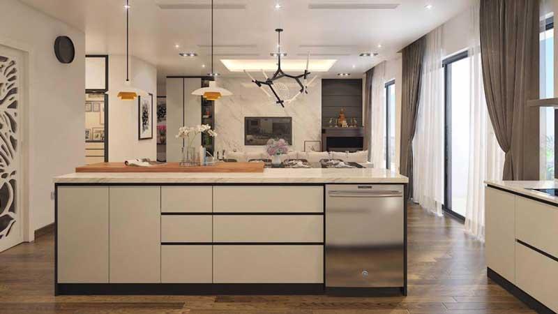 Thiết kế căn hộ 100m2 3 phòng ngủ 2