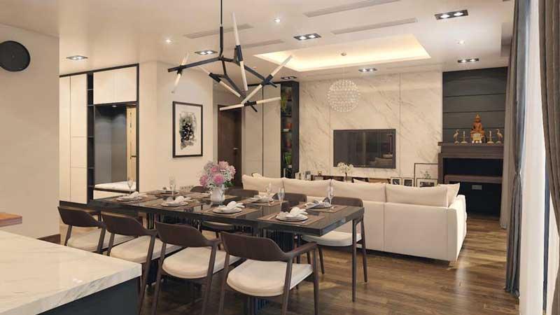 Thiết kế căn hộ 100m2 3 phòng ngủ 21