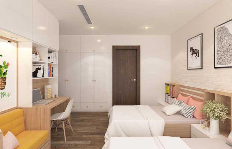 Thiết kế căn hộ 100m2 3 phòng ngủ 8