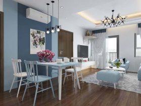 Thiết kế căn hộ 80m2 2 phòng ngủ 1