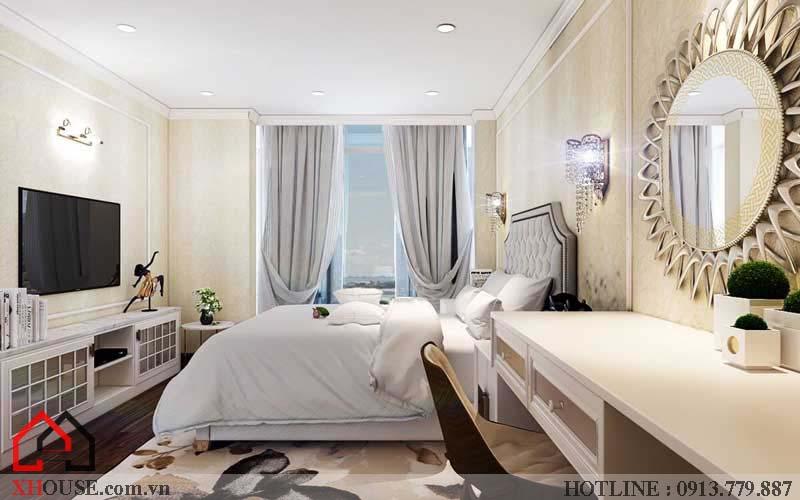 Thiết kế căn hộ chung cư 2 phòng ngủ 11