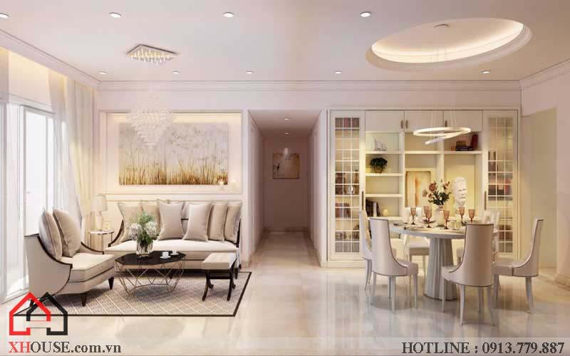 Thiết kế căn hộ chung cư 2 phòng ngủ 2