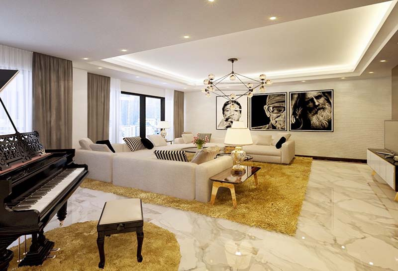 Thiết kế nội thất biệt thự hiện đại 1