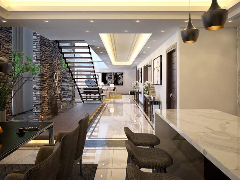 Thiết kế nội thất biệt thự hiện đại 19
