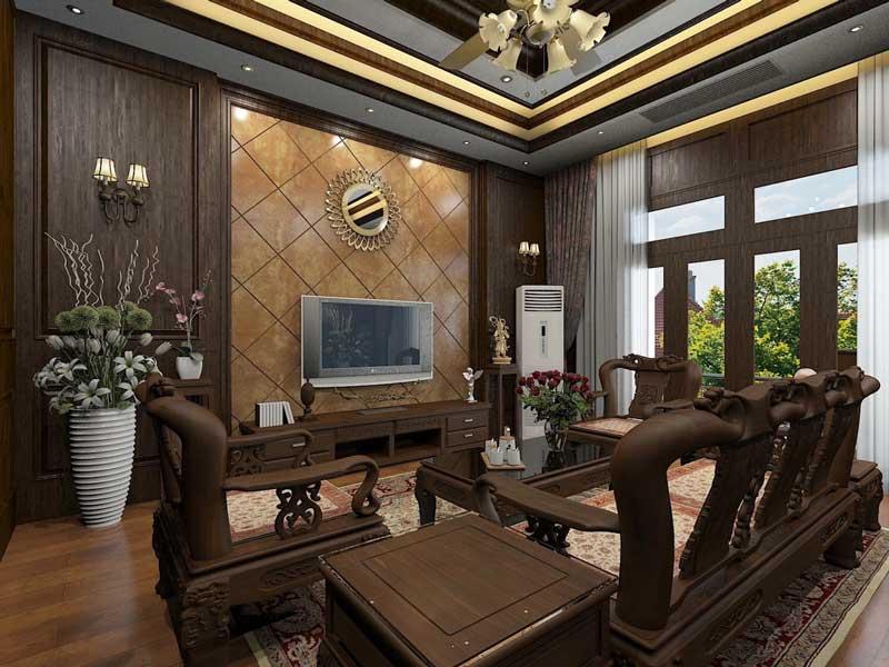 Thiết kế nhà biệt thự 4 phòng ngủ 2