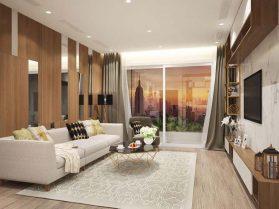 Tư vấn thiết kế nội thất phòng khách liền bếp