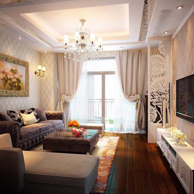 Thiết kế nội thất phòng khách tân cổ điển 3