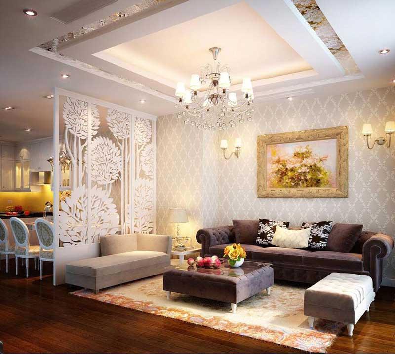 Thiết kế nội thất phòng khách tân cổ điển 4