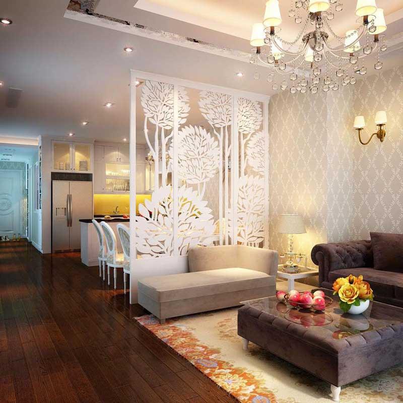 Thiết kế nội thất phòng khách tân cổ điển 5