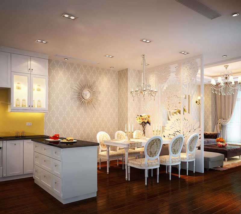 Thiết kế nội thất phòng khách tân cổ điển 6