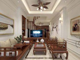 Mẫu thiết kế nội thất gỗ đẹp kết hợp phong cách tân cổ điển 1