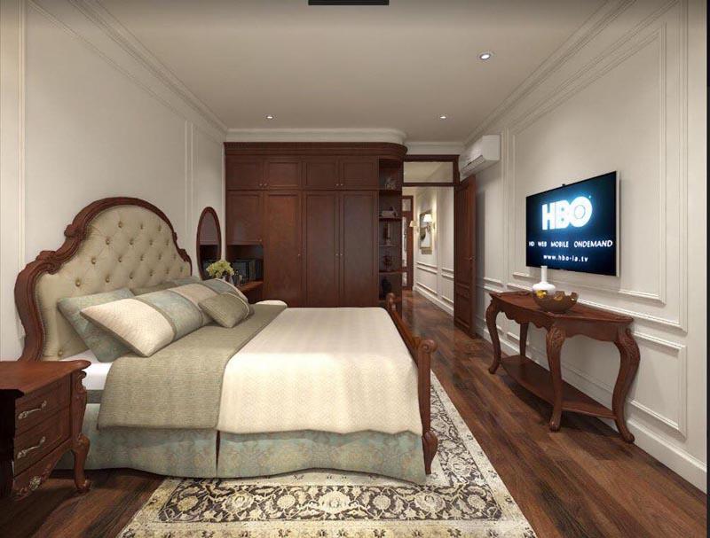 Mẫu thiết kế nội thất gỗ đẹp kết hợp phong cách tân cổ điển 13