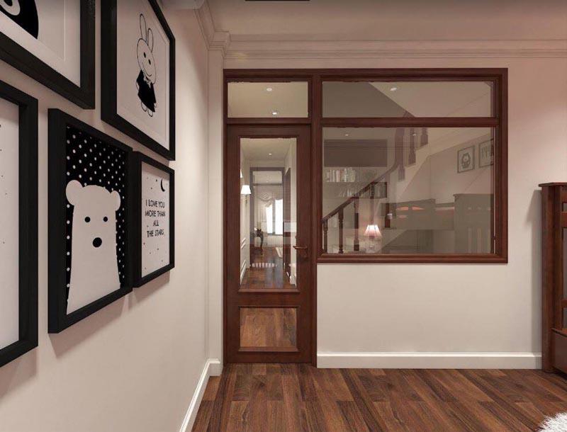 Mẫu thiết kế nội thất gỗ đẹp kết hợp phong cách tân cổ điển 14