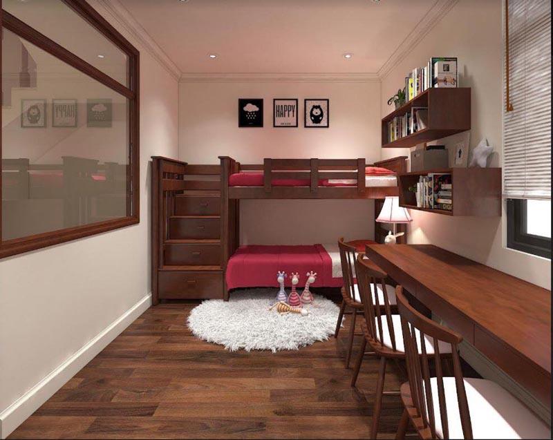 Mẫu thiết kế nội thất gỗ đẹp kết hợp phong cách tân cổ điển 16