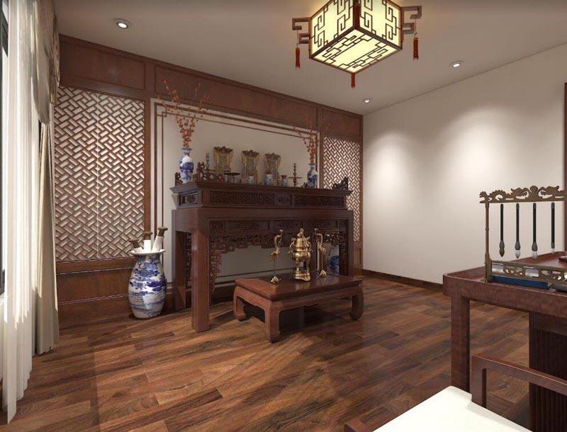 Mẫu thiết kế nội thất gỗ đẹp kết hợp phong cách tân cổ điển 17