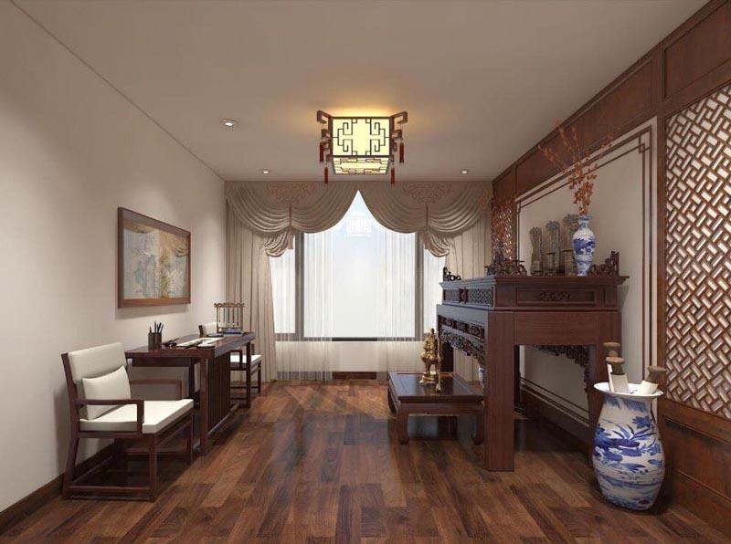 Mẫu thiết kế nội thất gỗ đẹp kết hợp phong cách tân cổ điển 3