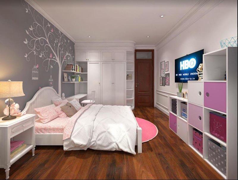 Mẫu thiết kế nội thất gỗ đẹp kết hợp phong cách tân cổ điển 5