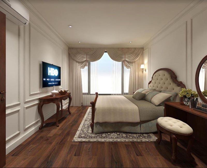 Mẫu thiết kế nội thất gỗ đẹp kết hợp phong cách tân cổ điển 6