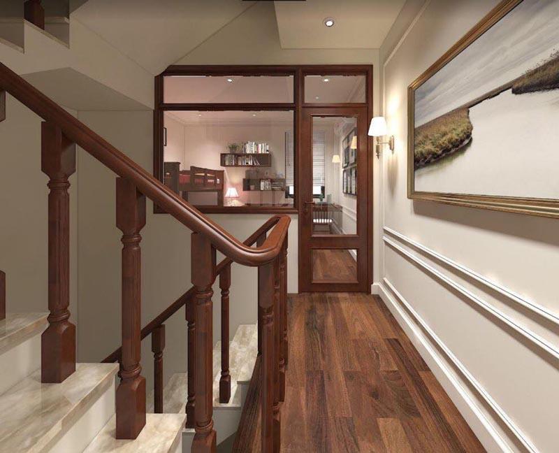 Mẫu thiết kế nội thất gỗ đẹp kết hợp phong cách tân cổ điển 7