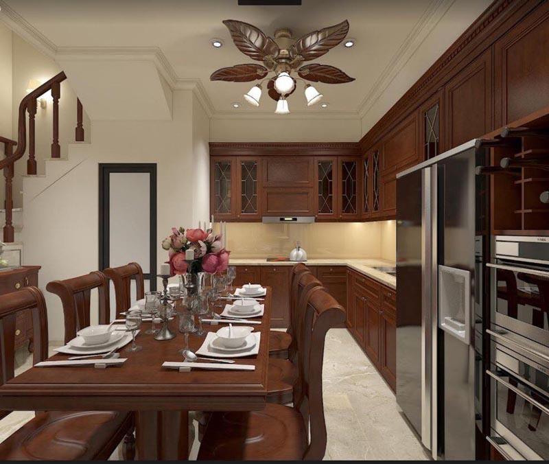 Mẫu thiết kế nội thất gỗ đẹp kết hợp phong cách tân cổ điển 9