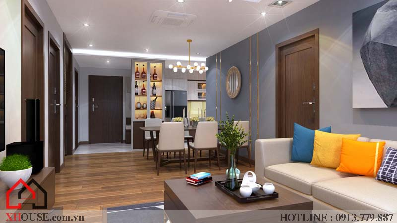 Thiết kế nhà chung cư hiện đại 4