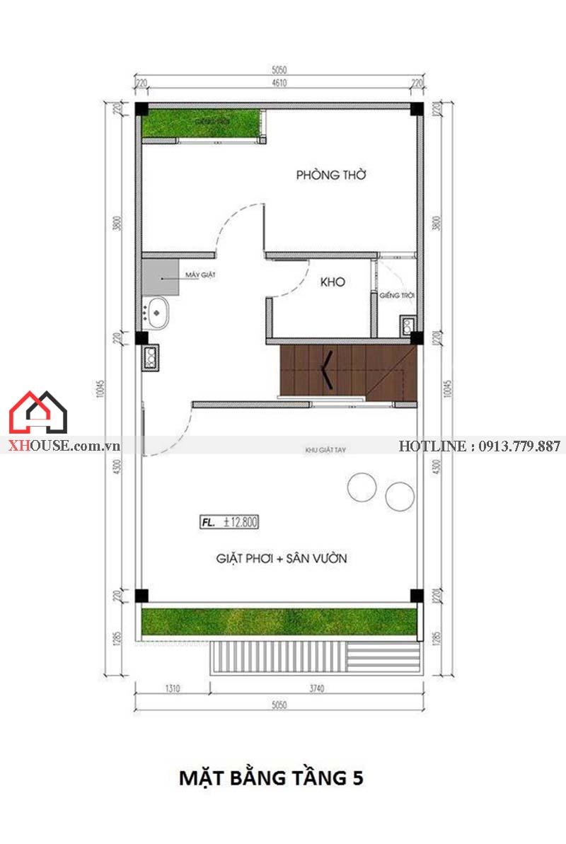 Mau Thiet Ke Nha Pho 50m2 7