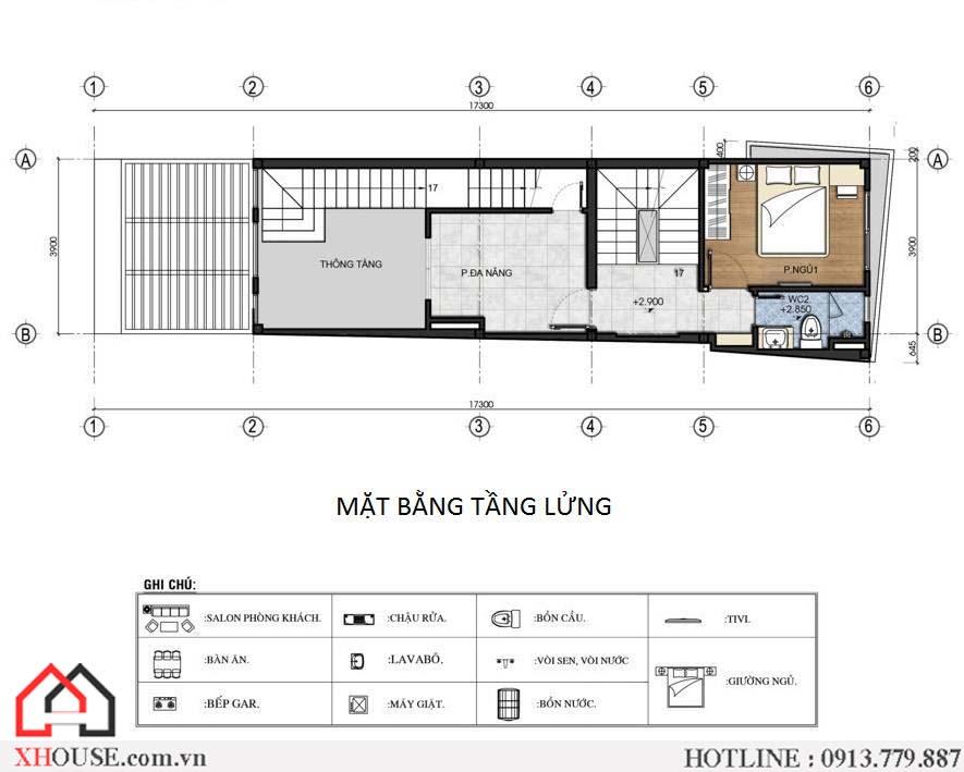 Thiet Ke Nha Pho 70m2 3
